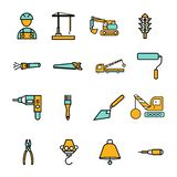 Construction sing symbol- vector icon set. For your website or mobile apps stock illustration