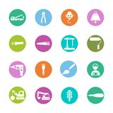 Construction sing symbol- vector icon set. For your website or mobile apps royalty free illustration