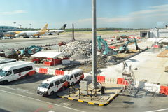 Construction at Singapore Changi Airport Stock Image