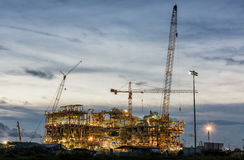 construction sit of oil refinery Stock Photography