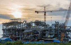 Construction sit of oil refinery Stock Images