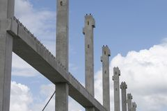 Construction site. With building framework already installed Royalty Free Stock Photography
