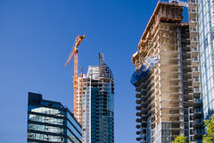 Construction Site. High-rise construction in Downtown of Vancouver stock photo
