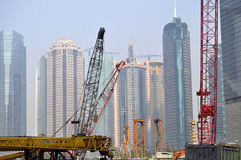 Construction site. A building site in Pudong, Shanghai Stock Photos