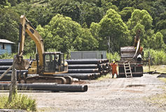 Construction Site. A construction site for gas laying pipe Royalty Free Stock Image