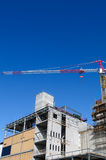 Construction site. And high crane Stock Photo
