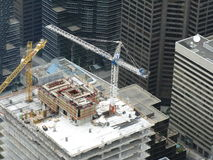 Construction site. New biilding construction in downtown area Toronto Stock Photos