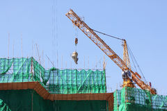 Construction Site. Crain on New Construction Site Royalty Free Stock Image