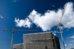 Construction site. Harpa construction site, Icelandic concert hall and congress center Royalty Free Stock Photo