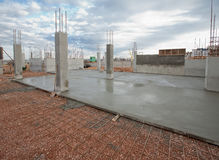 Construction site. Reinforced concrete work on the construction site Royalty Free Stock Photos