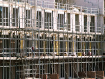 Construction site. Building construction site with scaffolds Royalty Free Stock Photography
