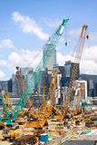 Construction site. In Hong Kong Island stock images