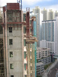 Construction site. In kowloon, hong kong royalty free stock images