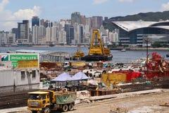 Construction site. In Hong Kong Island stock photo