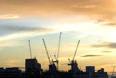 Construction Site. A silhouette of construction site Stock Image
