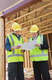 At the construction site Stock Images
