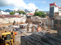 Construction site. In Port Louis, Mauritius Royalty Free Stock Photography