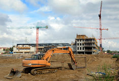 The construction site. Construction site in the Gdansk city stock images