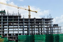 Construction site. With sky background Royalty Free Stock Images