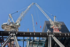 Construction site. On 122 Leadenhall Street in London, UK. May, 2012 Royalty Free Stock Photo