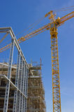 Construction Site. Highrise Construction Site and Tower Crane Stock Photography