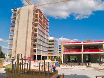 Construction site. Of a new office building Royalty Free Stock Image