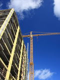 Construction site. With crane and sky Royalty Free Stock Photography