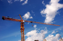 Construction site. Over cloudy blue sky Stock Images