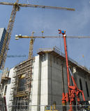 Construction Site. With cranes and blue sky Stock Photography