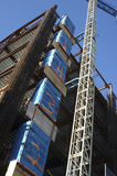 Construction Site. With elevator royalty free stock photo