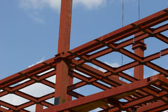 Construction site. Metal construction Royalty Free Stock Photography
