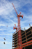 Construction Site. In Boston of an office building Royalty Free Stock Photography