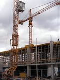 Construction site. Cranes at the construction site Royalty Free Stock Photo