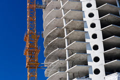 Construction Site. Construction of a large apartment building stock images