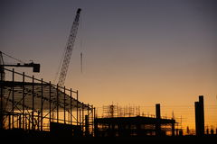 Construction Site. At dusk Royalty Free Stock Photos