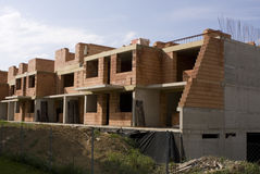 Construction site. Building site, a skeleton of unfinished house Royalty Free Stock Photography