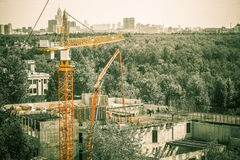 Construction. Site; above view; duotone Royalty Free Stock Images