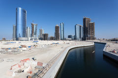 Construction site in Abu Dhabi Stock Images