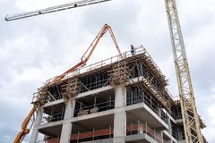 Construction Site Activity Stock Image