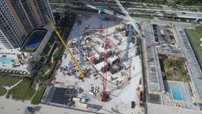 Construction site aerial drone image Stock Photo