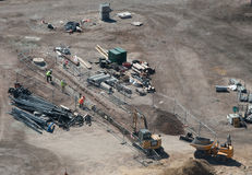 Construction site aerial view Royalty Free Stock Image