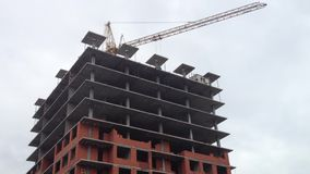 Construction site and Apartment building stock footage