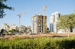 Construction site of apartment buildings Stock Image