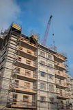 Construction site. Apartments being built at low cost stock photography