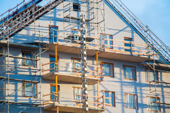 Construction site. Apartments being built at low cost royalty free stock photography