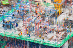 Construction site. Architecture building and Construction site industry Stock Image