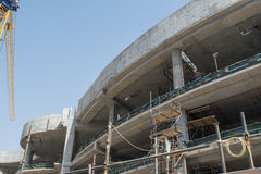 Construction site area of a big multistorey building Royalty Free Stock Photos