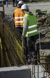 Construction site with armature stock photos