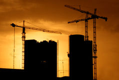 Construction site back lit Stock Photography