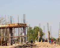 Construction site background. Stock Photos